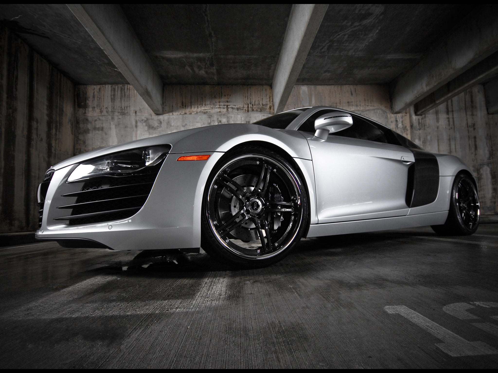 Audi R8 In A Garage Hd Widescreen Wallpapers Car Dui Auto Insurance